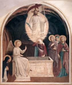 Fra_Angelico_-_Resurrection_of_Christ_and_Women_at_the_Tomb_(Cell_8)_-_WGA00542